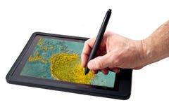 Tablette-PC und -stift lizenzfreie stockfotos