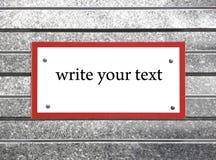 Tablette pour le texte Photos stock