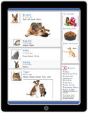 Tablette sociale de media d'animal familier Photo stock