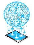 Tablette Socialnetz Lizenzfreies Stockbild