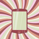Tablette sur le papier coloré Images stock
