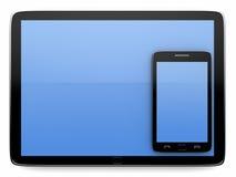 Tablette und intelligentes Telefon Stockfotografie