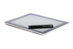 Tablette und Stift stockfotografie