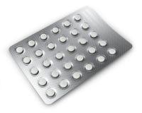Tabletteblase Stockfoto