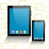 Tablettecomputer und -Handy Stockbild