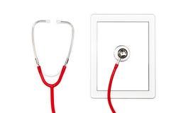 Tablettecomputerdiagnose und Reparaturkonzept. Lizenzfreie Stockfotos