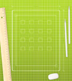 Tablettekening stock illustratie