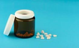 Tabletten in de vorm van hart Royalty-vrije Stock Fotografie