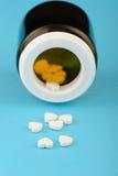Tabletten in de vorm van hart Royalty-vrije Stock Foto