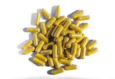 Tabletten des gelben Brauns Stockfotografie