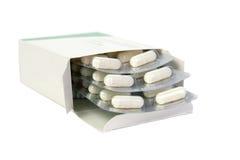 Tabletten in een pakket. royalty-vrije stock afbeeldingen