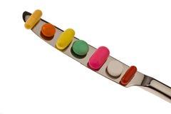 Tabletten en geneesmiddelen om ziekte te genezen Stock Foto's