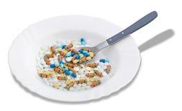 Tabletten en pillen stock fotografie