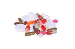 Tabletten getrennt auf Weiß Lizenzfreies Stockfoto