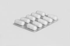 Tabletten in het pakket Stock Foto