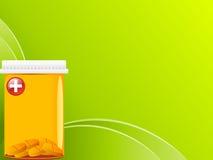 Tabletten im Kasten Stockbild