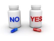 Tabletten ja of niet vector illustratie