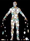 Tabletten-Körper Stockfoto