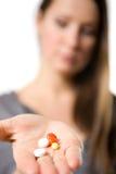 Tabletten ter beschikking Stock Foto