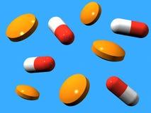 Tabletten und Kapseln Lizenzfreie Stockfotos