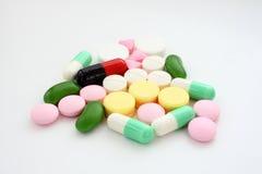 Tabletten und Kapseln. Stockfoto