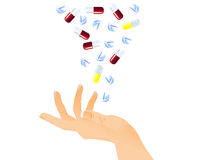 Tabletten und Pillen lizenzfreie abbildung