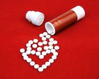 Tabletten van hartkwaal Royalty-vrije Stock Foto