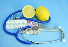 Tabletten voor behandeling Royalty-vrije Stock Foto's