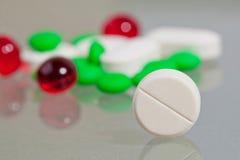 Tablettenahaufnahme. Medizinisch Lizenzfreie Stockbilder