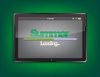 Tablettencomputer mit Ladenstange Lizenzfreies Stockbild