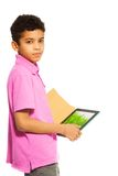 Tablettencomputerhilfe beim Lernen Lizenzfreies Stockbild