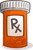Tablettenfläschchenillustration Lizenzfreie Stockbilder