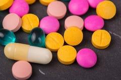 Tablettenpillen Stock Foto's