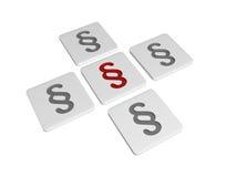 Tablettes avec des signes de paragraphe Images stock