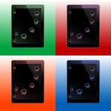 Tablettes avec des tirs de remboursement in fine Image stock