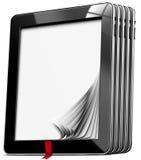 Tablettes avec les pages vides Images libres de droits