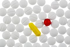 Tablettes blanches dans l'abondance Image stock