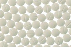 Tablettes blanches dans l'abondance Photo libre de droits