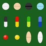 Tablettes, capsules, médecines illustration libre de droits