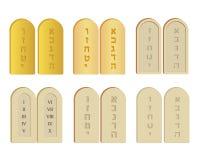 Tablettes d'ensemble de pierre illustration de vecteur
