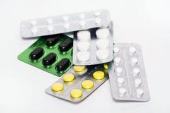 Tablettes dans des boursouflures Image libre de droits