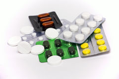 Tablettes dans des boursouflures Photographie stock