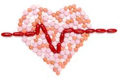 Tablettes de chagrin d'amour Concept de soins de santé Photos libres de droits