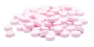 Tablettes de couleur rose Photo stock