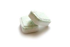 Tablettes de lave-vaisselle photo stock