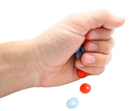 Tablettes de main Photo libre de droits