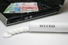 Tablettes de réussite Images libres de droits