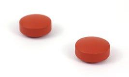 Tablettes génériques de soulageur de douleur d'ibuprofen Photo libre de droits