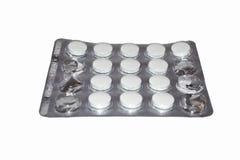 Tablettes a isolé sur le blanc Photo stock