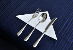 Tableware �Table napkin Royalty Free Stock Photography